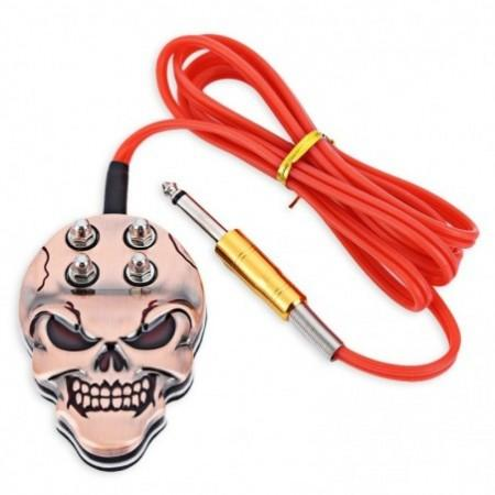 Pro Skull Tattoo Machine Power Supply Foot Pedal Switch
