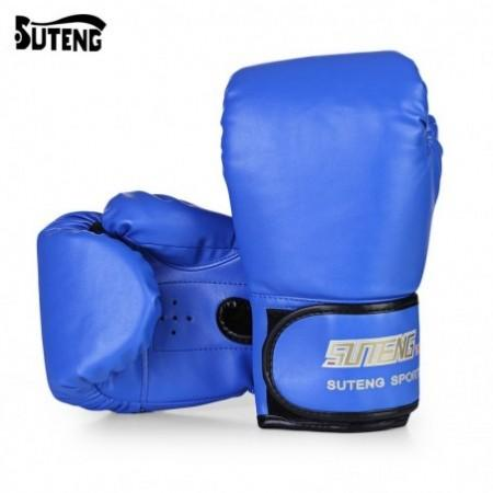 SUTENG 1 Pair PU Boxing Punching Bag Fighting Sanda Gloves with Wrist Wrap