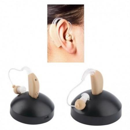 Mini In-ear Hearing Aid Care Invisible Deaf Volume Sound Amplifier Ear Aid Tone Rechargeable