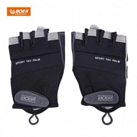 BOER Paired Fitness Sport Gym Exercise Weightlifting Men Half Finger Gloves