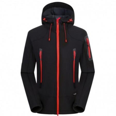 Waterproof Breathable Outdoor Soft Shell Jacket Coat for Men