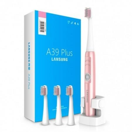 LANSUNG A39Plus Chargeable Sonic Electric Toothbrush Wireless Oral Health Care with 4 Heads