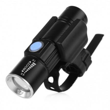 CYCLE ZONE USB Rechargeable Bike Front Handlebar Flashlight
