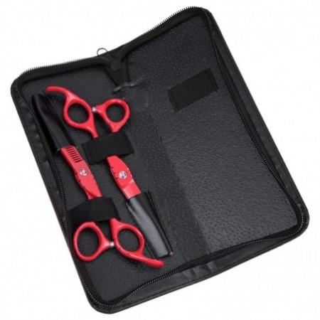 2pcs 6.0 Inch Salon Stainless Steel Hair Scissors Thinning Cutting Set Barber Shears