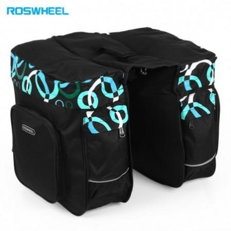 Roswheel 30L Double Pannier Pack Bicycle Rear Rack Bag