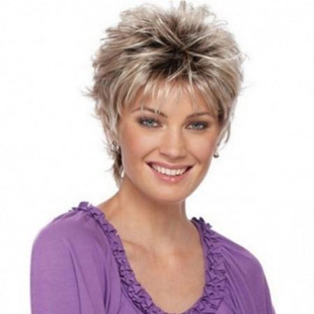 Fashionable Lady Gradient Short Wig