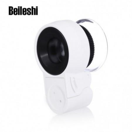 Beileshi Mini 45X Jewelry LED UV Light Adjustable Magnifier