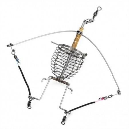 Automatic Fishing Gear Multi-Function Tackle Double Hook Fish Launcher Lazy Alar