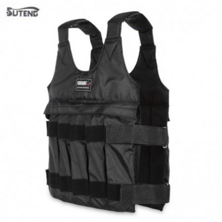 SUTENG 50kg Max Loading Adjustable Weighted Vest Fitness Training Jacket