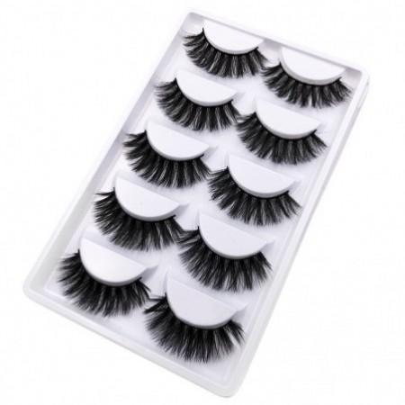 5Pairs Handmade Natural False Eyelashes Makeup Tools