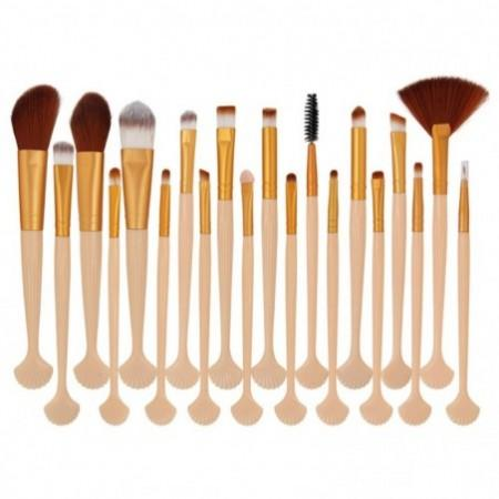 20Pcs Shell Shape Ultra Soft Fiber Hair Makeup Brush Set