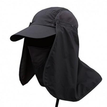Cap with Removable Neck Flap Cover and Face
