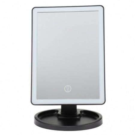 Touch Screen LED Desktop Makeup Mirror with Round Base Plate
