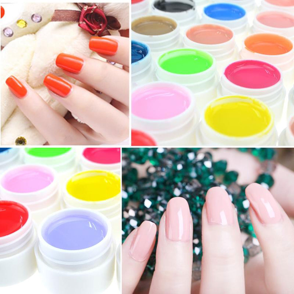 5ml 36 Pure Color UV Gel Nail Art DIY Decoration for Nail Manicure Gel Nail Polish Extension