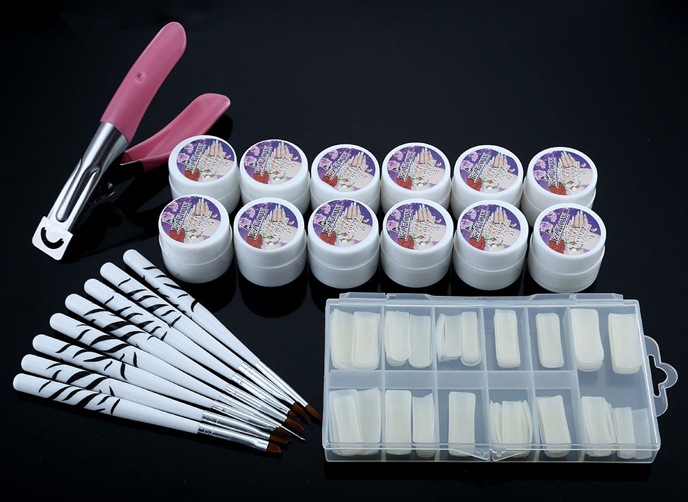 36W Cure Lamp Dryer UV Gel Nail Tools Full Set