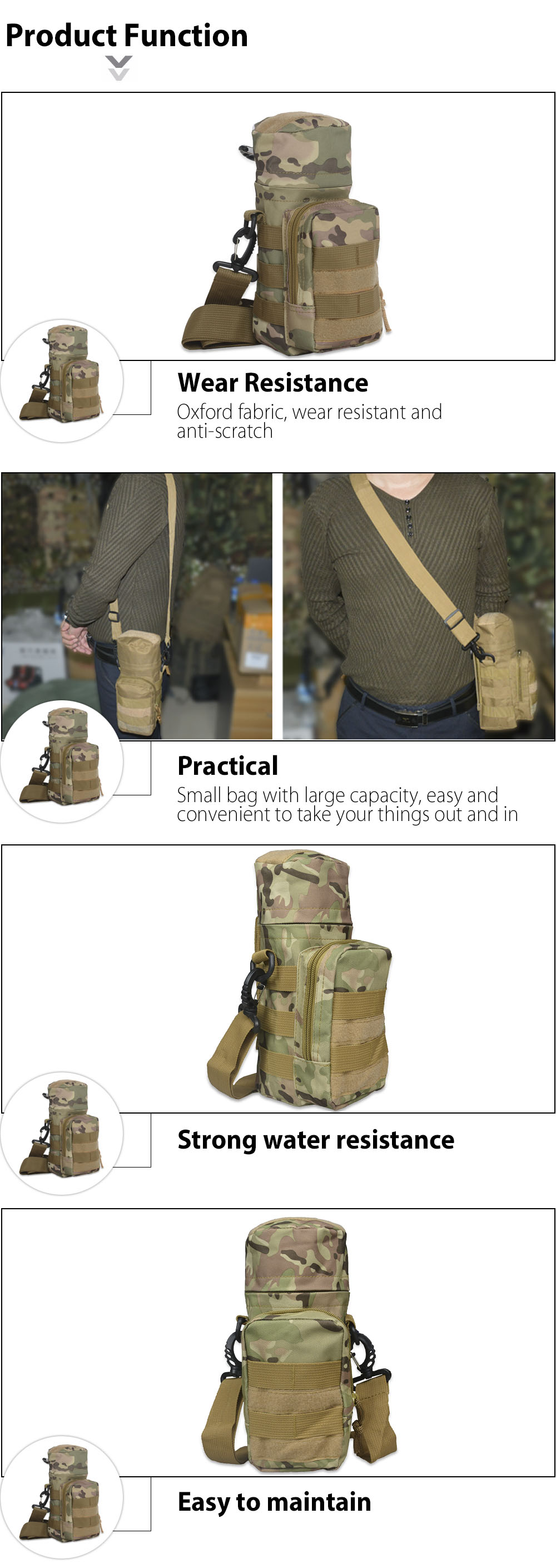 Molle Water Bottle Pouch Military Pack