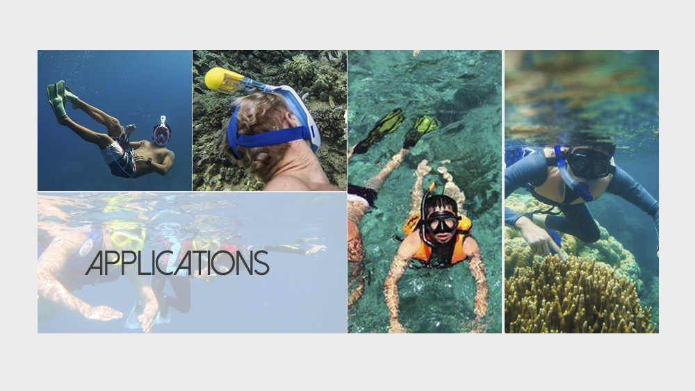 NEOpine Underwater Diving Swimming Training Scuba Anti Fog Dry Snorkeling Full Face Mask Set for GoPro Camera