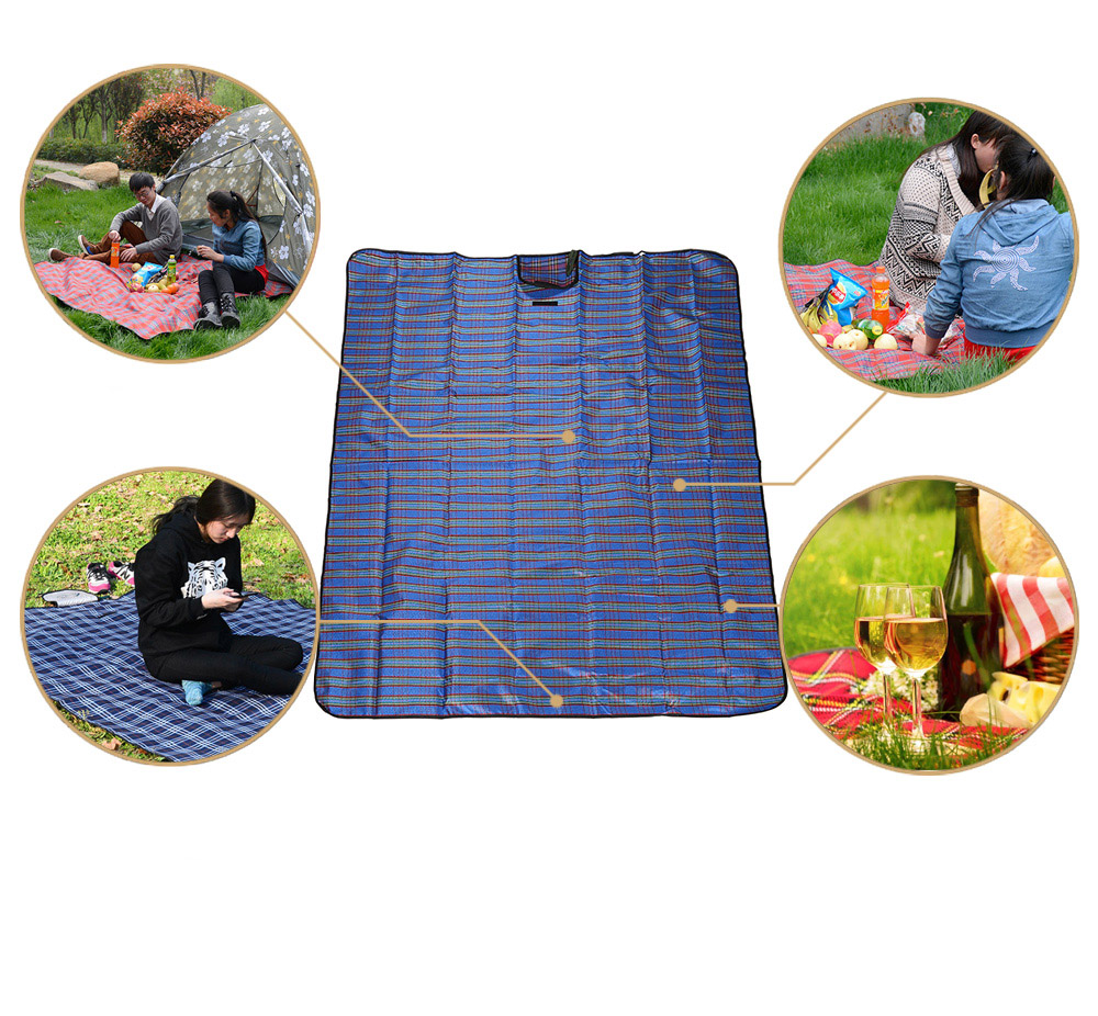 WIND TOUR Acrylic Camping Picnic Mat Moisture-proof Cushion for 3 - 5 Persons Use