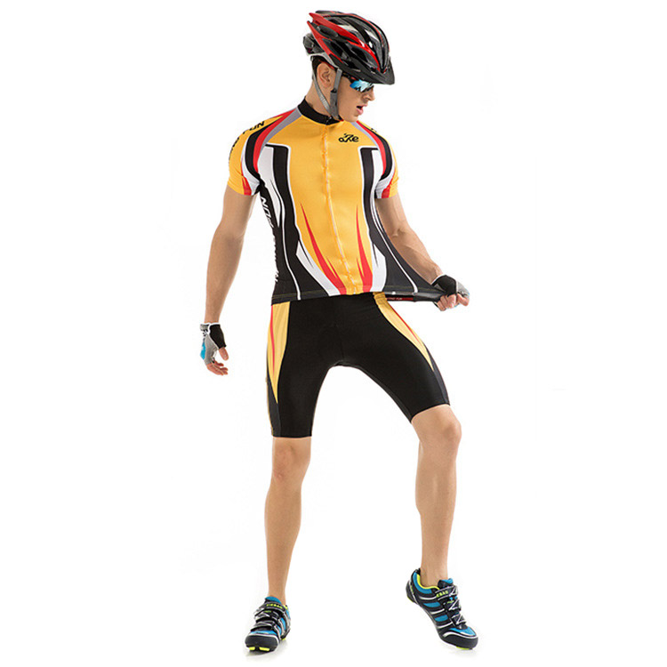 RIDING FUN Quick-drying Men Short Sleeve Riding Clothes Suit