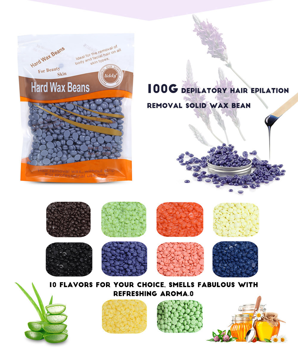 LIDDY 100g Depilatory Body Hair Epilation Removal Solid Wax Bean
