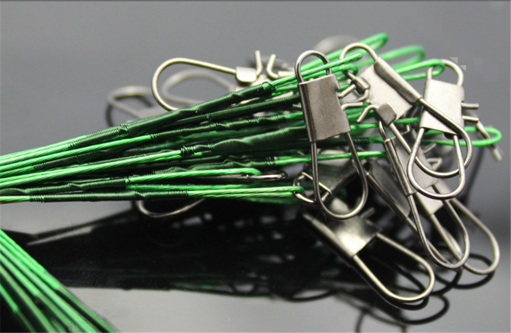 Fishing Lead Line Leader Wire Stainless Steel Rolling Swivels