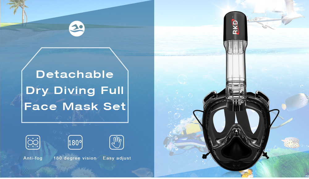 RKD 2nd Generation One-piece Gasbag Snorkeling Mask