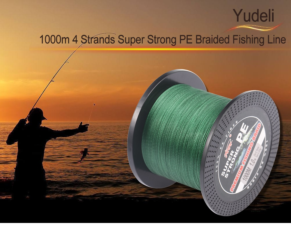 Yudeli 1000m 4 Strands Super Strong PE Braided Fishing Line