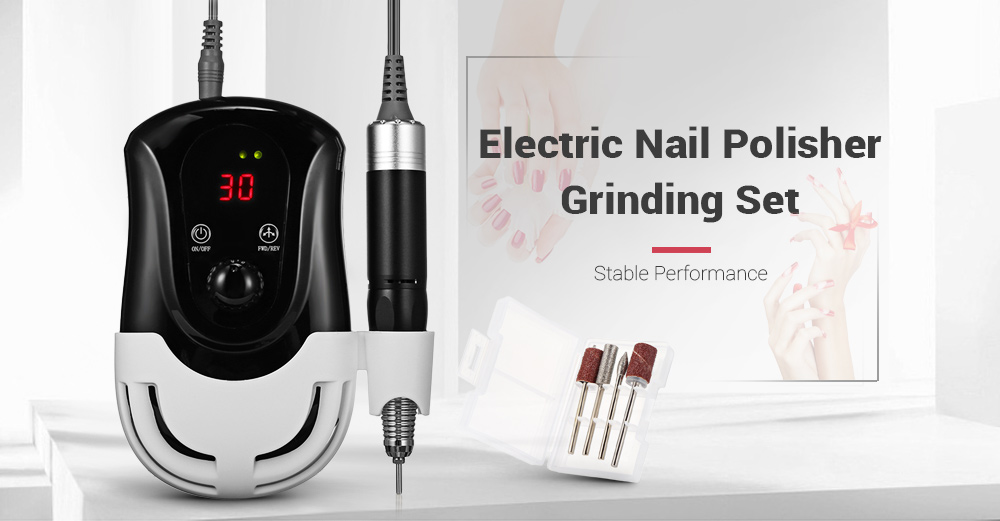 30000RPM Nail Manicure Pedicure Tools Files Electric Polisher Grinding Glazing Machine