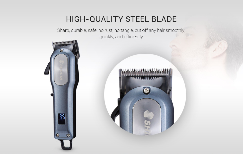 SHINON SH - 1888 Professional Trimmer 4 Guide Combs Cordless Hair Clipper