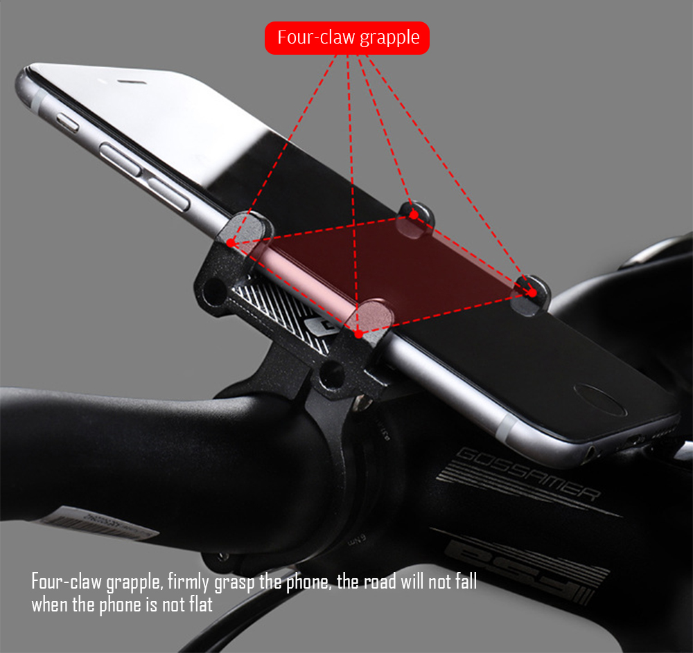 GUB G - 81 Aluminium Alloy Phone Bracket Bicycle Motorcycle Smartphone Holder for Delivery Man