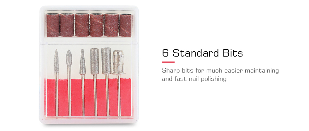YQ - T08 Mute Operation / Adjustable Speed / Comfortable Touch / Sharp Bit Electric Nail Polisher